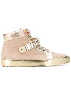 кроссовки с золотистой панелью Loriblu
