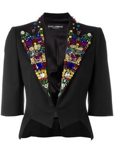 блейзер с декорированными лацканами Dolce & Gabbana