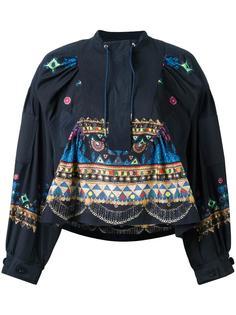 блузка с этническим орнаментом Sacai