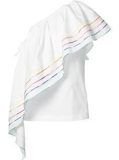 блузка на одно плечо Rainbow Rosie Assoulin