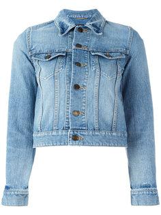 джинсовая куртка с заплаткой Love Saint Laurent