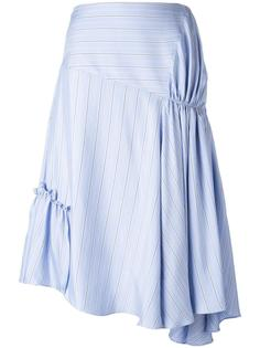 асимметричная юбка со сборками JW Anderson