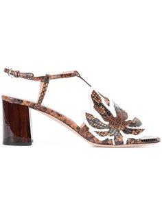 босоножки на массивном каблуке Rochas