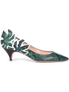 туфли с эффектом змеиной кожи Rochas