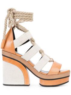 босоножки на платформе со шнуровкой  Pierre Hardy