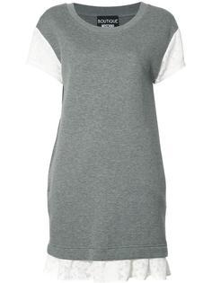 платье-футболка с кружевной отделкой Boutique Moschino