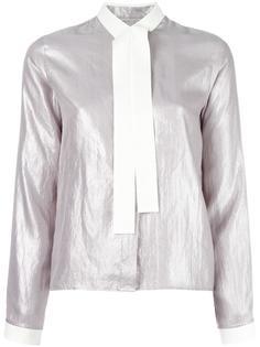 рубашка с бантом и эффектом металлик Mm6 Maison Margiela