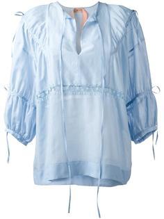 блузка в крестьянском стиле Nº21