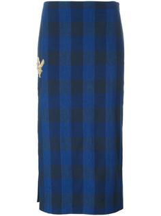 клетчатая юбка с блестящей отделкой Nº21