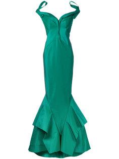 длинное облегающее платье Zac Posen