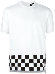 футболка с подолом в клетку Dsquared2