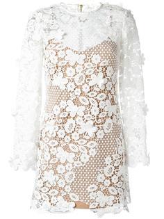 полупрозрачное платье с цветочным узором Self-Portrait