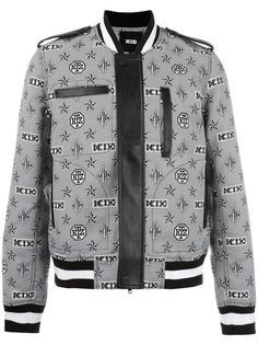куртка-бомбер с монограммным принтом KTZ