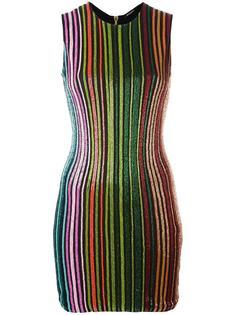платье с отделкой бисером Balmain