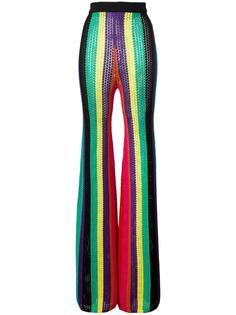 вязаные брюки с завышенной талией Balmain
