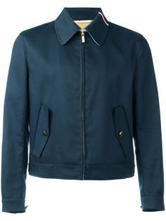 куртка на молнии с полосатой отделкой Thom Browne