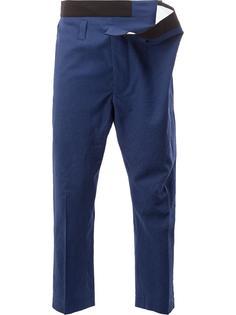 брюки с контрастным поясом Haider Ackermann