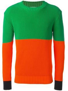 свитер дизайна колор-блок JW Anderson