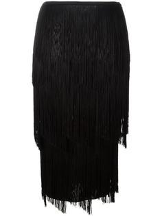 узкая юбка с бахромой Tom Ford
