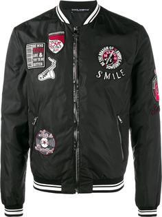 куртка-бомбер с нашивками Dolce & Gabbana