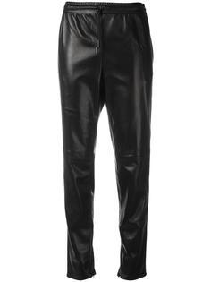 прямые кожаные брюки Saint Laurent