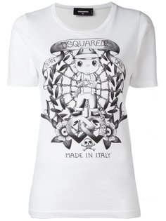 удлиненная футболка Tattoo Graphic Dsquared2