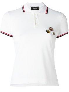 рубашка-поло со значками Dsquared2