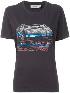 футболка с пайетками Coach