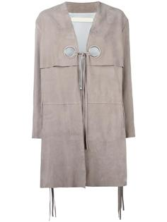 кожаное пальто Dove Drome