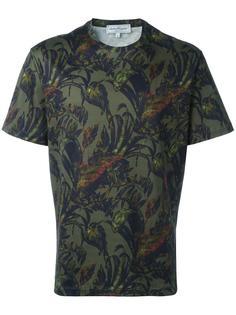футболка с лиственным принтом Salvatore Ferragamo