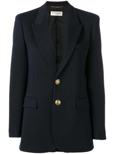 классический однобортный пиджак Saint Laurent