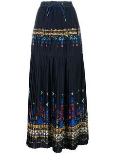 длинная юбка с принтом Tribal Lace Sacai