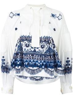 блузка с этническим узором Sacai