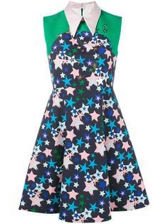платье с воротником и рисунком в виде звезд Delpozo