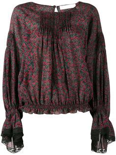 блузка с рисунком и кружевной отделкой Chloé