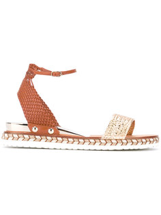 сандалии на плетеной подошве Casadei