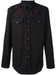 рубашка с вышивкой  Givenchy