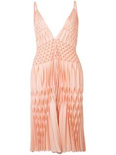 плиссированное платье с V-образным вырезом Haider Ackermann