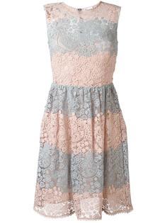 платье из макраме с цветочным узором Red Valentino