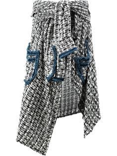 асимметричная твидовая юбка Faith Connexion