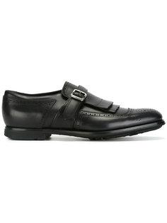 туфли-монки с бахромой Churchs