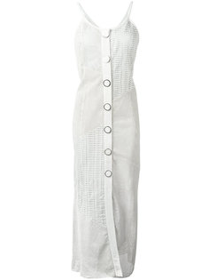 длинное кожаное платье Drome