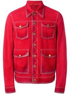 куртка в стиле джинсовки Dsquared2