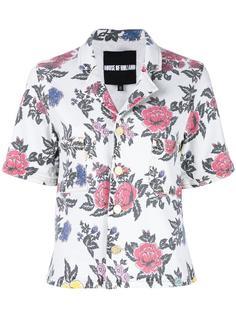 рубашка с принтом роз  House Of Holland