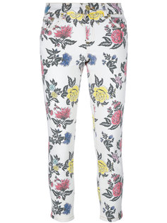джинсы кроя скинни  с принтом роз  House Of Holland