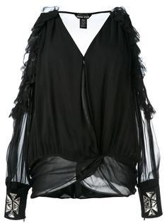 блузка с вырезами на плечах  Thomas Wylde