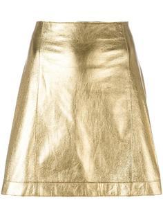 юбка А-образного силуэта с металлическим отблеском  Theory