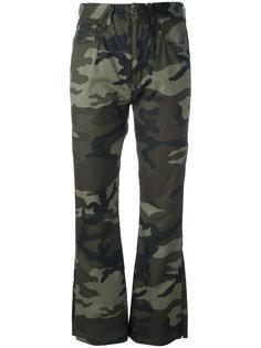 брюки с камуфляжным принтом Mm6 Maison Margiela