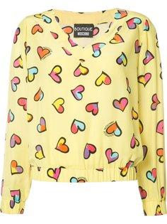 блузка с принтом сердец Boutique Moschino
