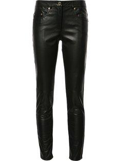 двухцветные брюки скинни Boutique Moschino